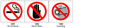 Graphic pictograms make your ANSI warning label more effective - 1200 Prohibition Pictograms
