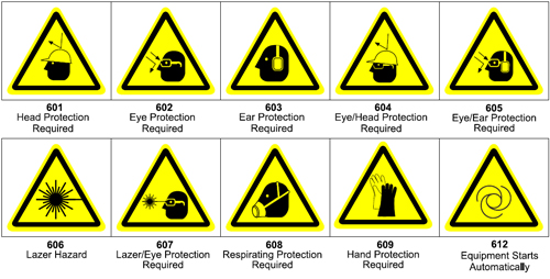 Graphic pictograms make your ANSI warning label more effective - 600 Personal Protection Pictograms