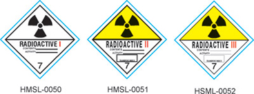 Stranco manufactures DOT Labels for Class 7 Radioactive hazardous materials.