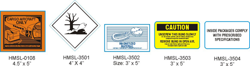 Stranco manufactures other hazardous material labels for marking hazardous material.