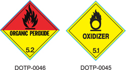 Stranco manufactures DOT Placards for Class 5 hazardous materials.