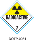 Stranco manufactures DOT Placards for Class 7 Radioactive hazardous materials.