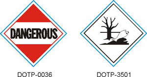 Stranco manufactures DOT Placards for marking other hazardous materials.