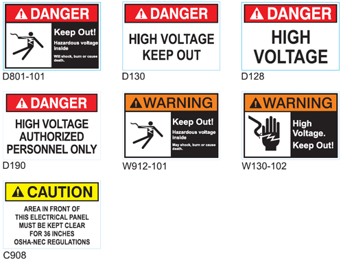 Electric Safety Signs